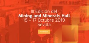 Amphos 21 participará en la III Edición del Mining and Minerals Hall en Sevilla 15-17 octubre de 2019