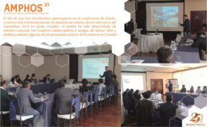 Amphos 21 participó en la XII Edición de Expominas en Quito (Ecuador) 24-26 abril de 2019
