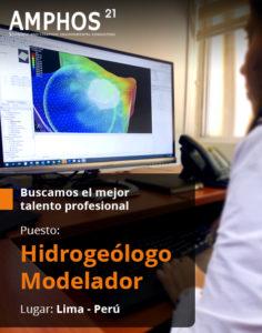 Amphos 21 se encuentra en la búsqueda de profesionales para el puesto de hidrogeólogo modelador