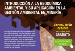 """Webinar """"Introducción a la geoquímica ambiental"""""""